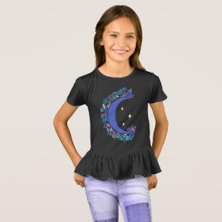 Lua e camisa do plissado das estrelas