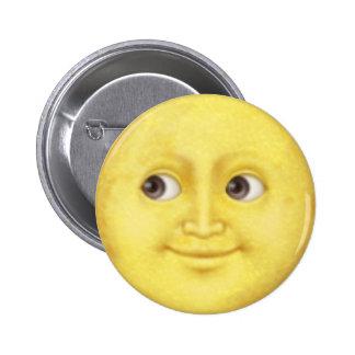 Lua Emoji Bóton Redondo 5.08cm
