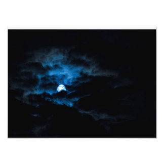 Lua escura impressão de foto