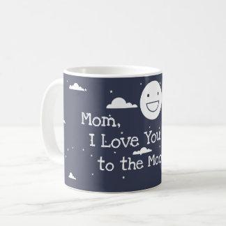 Lua feliz eu te amo à caneca de café do &Back da