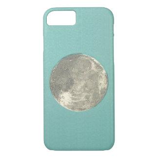 Lua lunar retro na capa de telefone do fundo   da