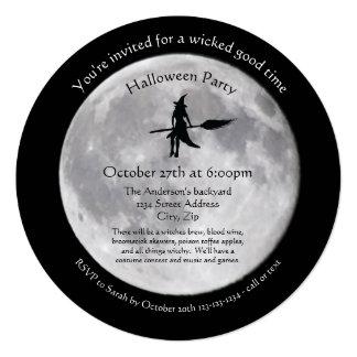 Lua má - convite de festas do Dia das Bruxas do