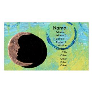 Lua na pintura abstrata modelo de cartões de visita