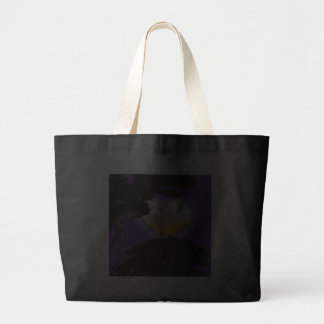 Lua nova preta feita sob encomenda bolsa para compras