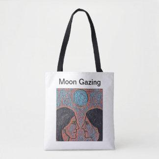 Lua que olha o bolsa