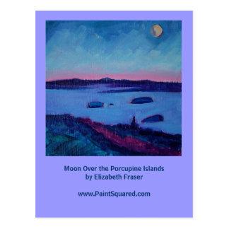 Lua sobre as ilhas do porco- • Cartão de Maine