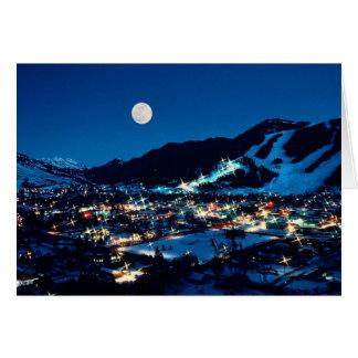 Lua sobre Jackson Cartão Comemorativo