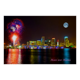 Lua sobre Miami Pôsteres
