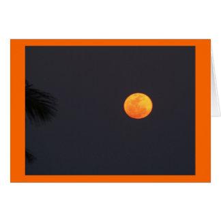 Lua super cartão comemorativo