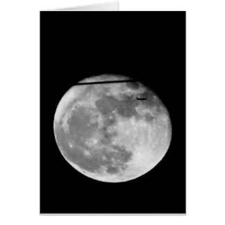 Lua super com a passagem do avião/customizável! cartão comemorativo