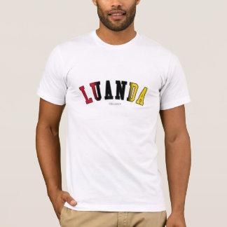Luanda em cores da bandeira nacional de Angola Camiseta