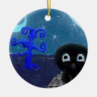 Luar que stargazing ornamento de cerâmica