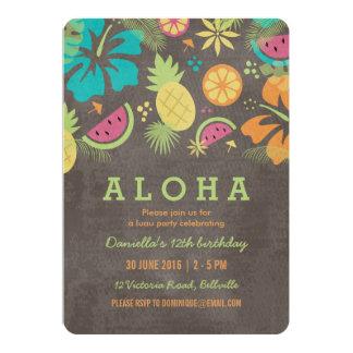 Luau havaiano caçoa o convite de festas