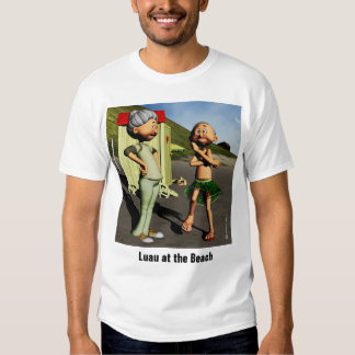 Luau na praia camiseta