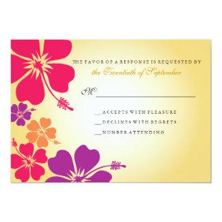 Luau/RSVP Wedding havaiano Convite 12.7 X 17.78cm