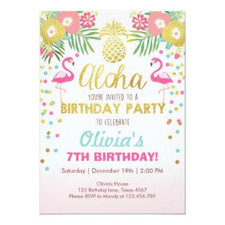 Luau tropical do aniversário do convite de festas