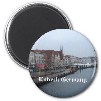 Lubeque Alemanha Ímã Redondo 5.08cm