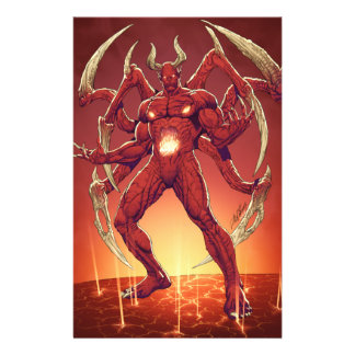 Lucifer o diabo, príncipe da escuridão, satã flyer 13.97 x 21.59cm