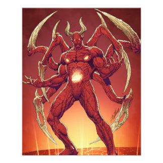 Lucifer o diabo, príncipe da escuridão, satã modelo de panfleto