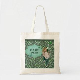Lucky Deer Green Bag