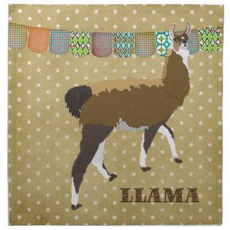 Lucky Llama Golden Stars American MoJo Napkin
