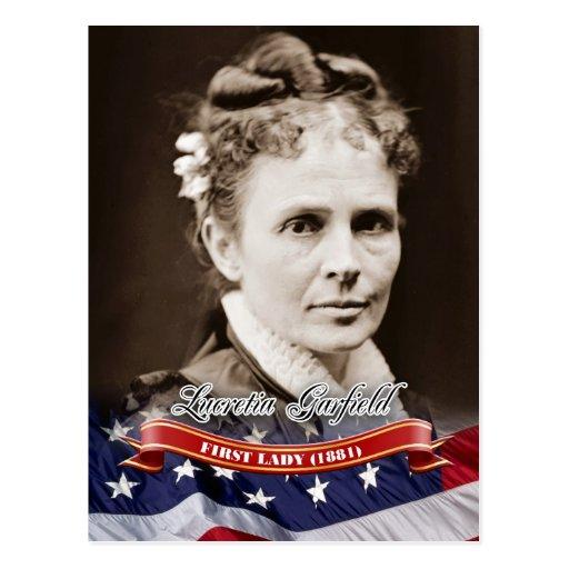 Lucretia Garfield, primeira senhora dos E.U. Cartoes Postais