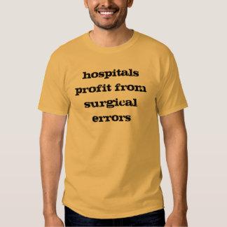 Lucro dos hospitais dos erros cirúrgicos t-shirts