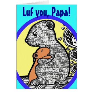 LUF você, papá - cartão do dia dos pais