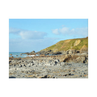 Lugar de Cornualha Inglaterra Poldark da angra do Impressão Em Tela Canvas