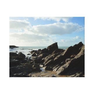 Lugar de Cornualha Inglaterra Poldark da angra do Impressão Em Canvas