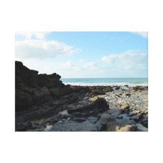Lugar de Cornualha Inglaterra Poldark da angra do Impressão De Canvas Esticadas