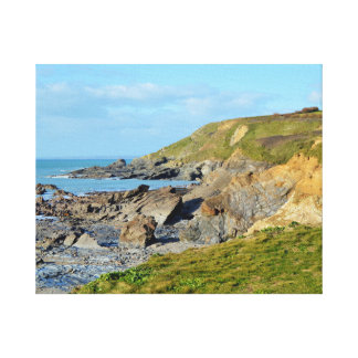 Lugar de Cornualha Inglaterra Poldark da angra do Impressão De Canvas Envolvidas