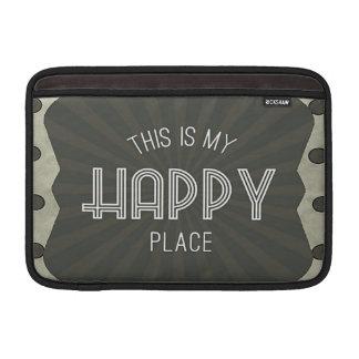 Lugar feliz das palavras inspiradas bolsas de MacBook air