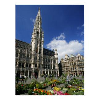 lugar grande, Bruxelas Bélgica Cartão Postal