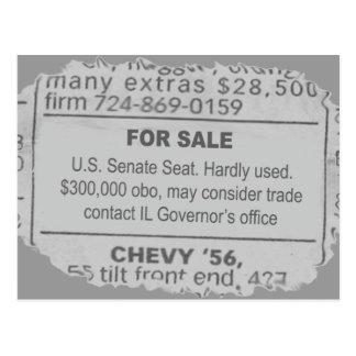 Lugar no senado para o cartão da venda cartão postal