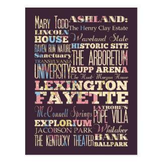 Lugares famosos de Lexington Fayette, Kentucky. Cartão Postal