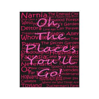 Lugares pretos e cor-de-rosa você irá impressão da