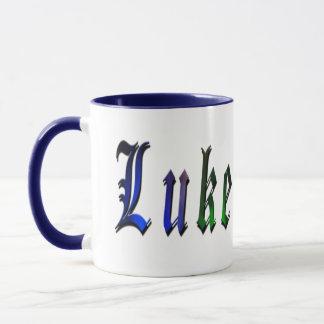 Luke, nome, logotipo, caneca combinado da