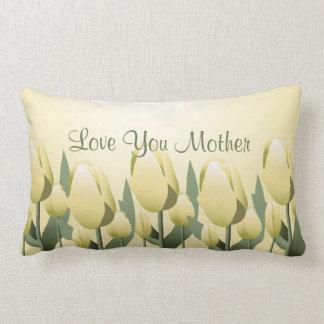 Lumbar do amarelo da mamã do amor das tulipas do