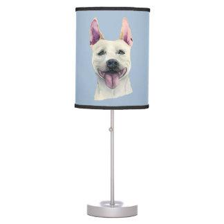 Luminária Aguarela branca do cão de Staffordshire bull