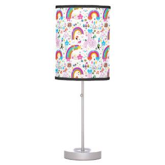 Luminária Arcos-íris felizes dos desenhos animados e teste