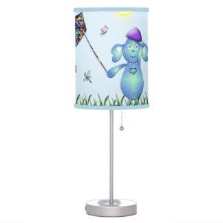 Luminária Azul de bebê no parque