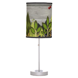 Luminária Berçário animal da floresta rústico