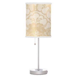Luminária Campo luxuoso branco Glam do laço do ouro do Sepia