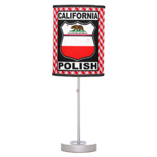 Luminária Candeeiro de mesa americano polonês de Califórnia