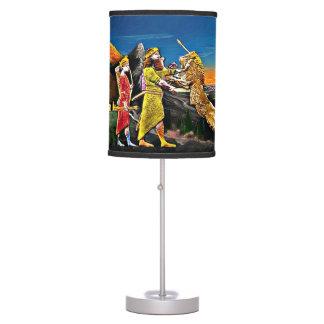 Luminária Candeeiro de mesa Assyrian do Leão-Hunting