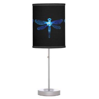 Luminária Candeeiro de mesa azul da libélula