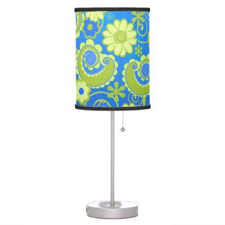 Luminária Candeeiro de mesa azul do impressão do redemoinho