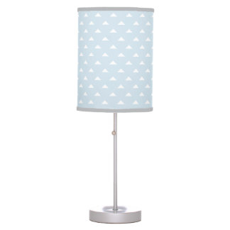 Luminária Candeeiro de mesa azul e cinzento da luz - do