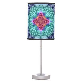 Luminária Candeeiro de mesa colorido   do caleidoscópio azul